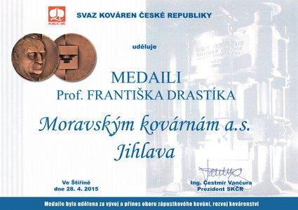 Medaile Prof. Františka Drastíka